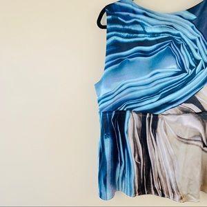 Elie Tahari Tops - [Elie Tahari] Marble Print Silk Tank